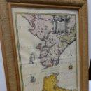Mapas contemporáneos: MAPA BAHIA DE CÁDIZ ESTRECHO DE GIBRALTAR AÑOS 50. Lote 148336294