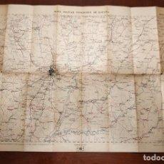 Mapas contemporáneos: ANTIGUO MAPA MILITAR ITINERARIO DE ESPAÑA ENTELADO // PROVINCIAS DE MADRID GUADALAJARA 1920 HOJA 45. Lote 148476894