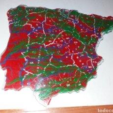 Mapas contemporáneos: ANTIGUAS PLANTILLAS MAPA ESPAÑA AÑOS 60. Lote 148608830