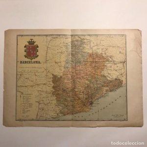 1910 Mapa de la provincia de Barcelona. Benet Chias 38,8x27,3 cm