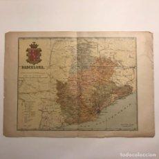 Mapas contemporáneos: 1910 MAPA DE LA PROVINCIA DE BARCELONA. BENET CHIAS 38,8X27,3 CM. Lote 148725846
