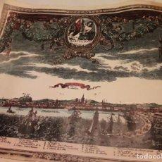Mapas contemporáneos: PRECIOSO PLANO BARCELONA VISTA DEL MAR AÑO 1609 EN FRANCÉS. Lote 148936514