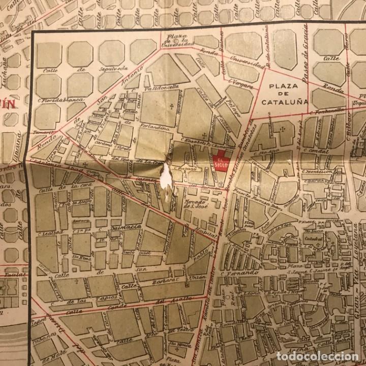 Mapas contemporáneos: Plano de Barcelona especial para los grandes almacenes El siglo SA 91x65 cm - Foto 2 - 149328574