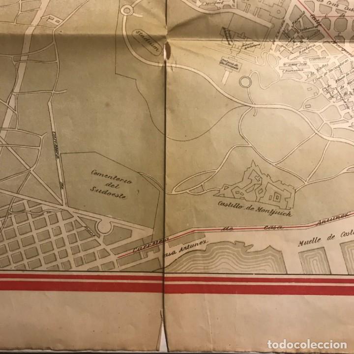 Mapas contemporáneos: Plano de Barcelona especial para los grandes almacenes El siglo SA 91x65 cm - Foto 3 - 149328574