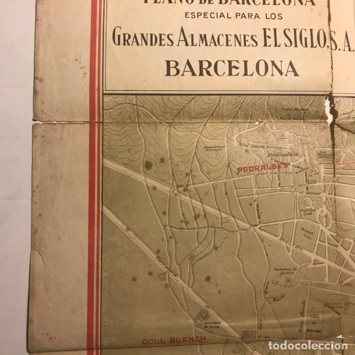 Mapas contemporáneos: Plano de Barcelona especial para los grandes almacenes El siglo SA 91x65 cm - Foto 6 - 149328574