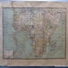 Mapas contemporáneos: MAPA DE AFRICA, MAPAS PALUZIE, IMPRENTA ELZEVIRIANA - AÑO 1939. Lote 149802026