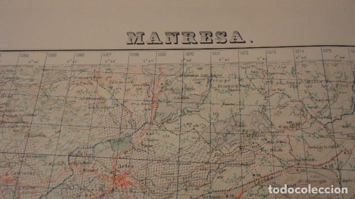 Mapas contemporáneos: ANTIGUO MAPA.MANRESA.BARCELONA.EDICION MILITAR.1950 - Foto 2 - 149879374
