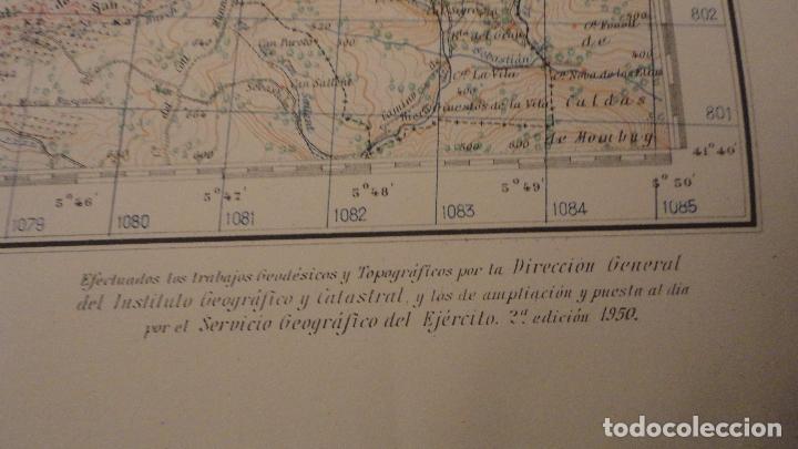 Mapas contemporáneos: ANTIGUO MAPA.MANRESA.BARCELONA.EDICION MILITAR.1950 - Foto 4 - 149879374