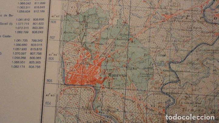 Mapas contemporáneos: ANTIGUO MAPA.MANRESA.BARCELONA.EDICION MILITAR.1950 - Foto 6 - 149879374