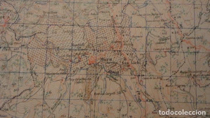 Mapas contemporáneos: ANTIGUO MAPA.MANRESA.BARCELONA.EDICION MILITAR.1950 - Foto 7 - 149879374