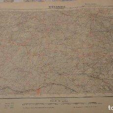 Mapas contemporáneos: ANTIGUO MAPA.GUISONA.LERIDA.EDICION MILITAR.1952. Lote 149880482