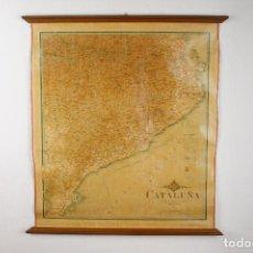 Mapas contemporáneos: MAPA ENTELADO ESCOLAR CATALUÑA VINTAGE EDUARDO BROSSA 1912. Lote 149925646
