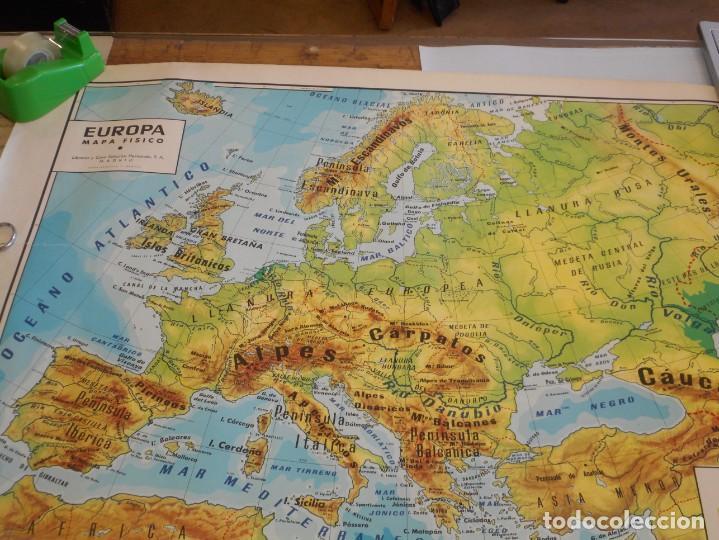 Mapa Físico De Europa.Mapa Fisico De Europa De 1960