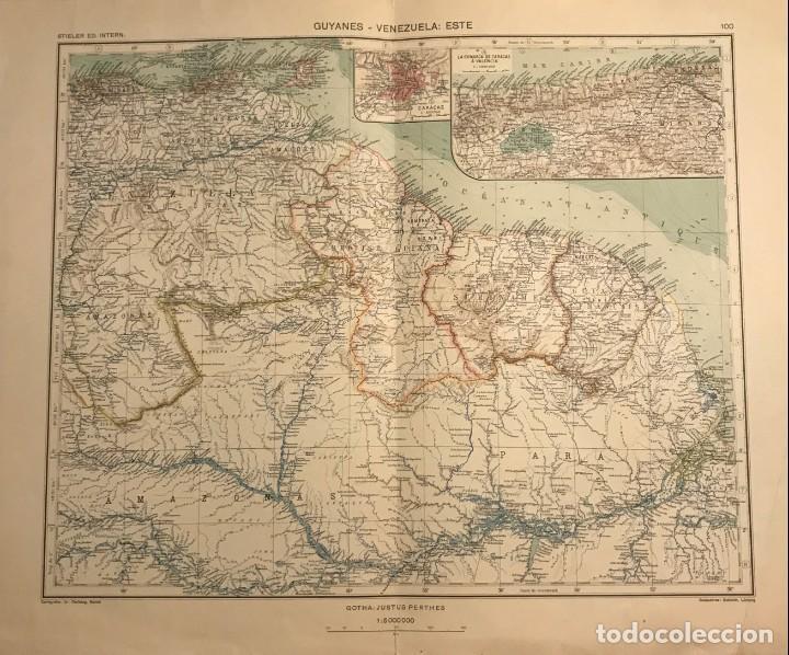 MAPA DE GUYANES. VENEZUELA 49,2X40 (Coleccionismo - Mapas - Mapas actuales (desde siglo XIX))
