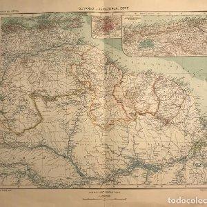 Mapa de Guyanes. Venezuela 49,2x40