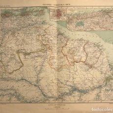 Mapas contemporáneos: MAPA DE GUYANES. VENEZUELA 49,2X40. Lote 151382738