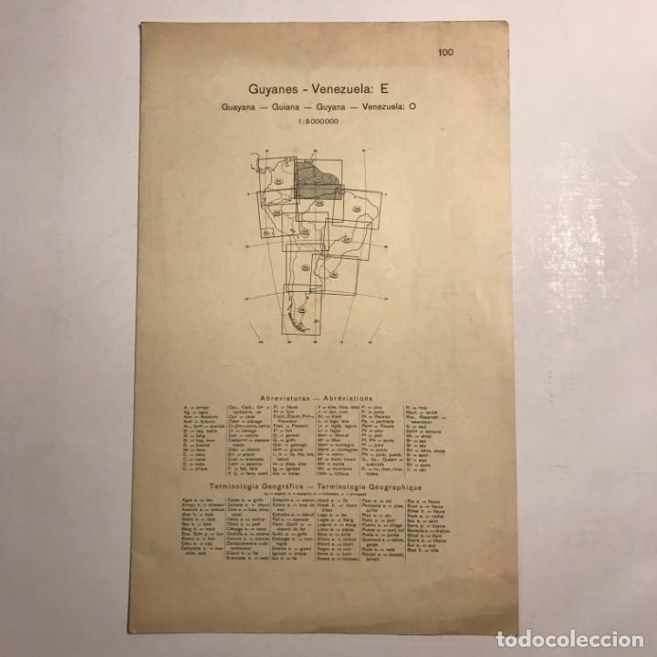 Mapas contemporáneos: Mapa de Guyanes. Venezuela 49,2x40 - Foto 2 - 151382738