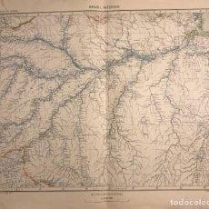 Mapas contemporáneos: MAPA DE BRASIL INTERIOR 49,2X40. Lote 151383038