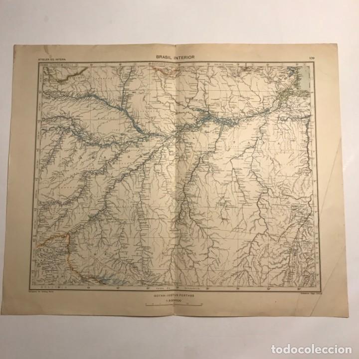 Mapas contemporáneos: Mapa de Brasil interior 49,2x40 - Foto 3 - 151383038