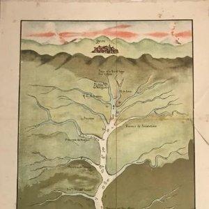 Reproducción de plano titulado Descubrimiento del Río Amazonas y sus dilatadas provincias 59x24,5 cm