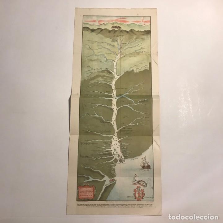 Mapas contemporáneos: Reproducción de plano titulado Descubrimiento del Río Amazonas y sus dilatadas provincias 59x24,5 cm - Foto 2 - 151387622