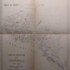 Mapas contemporáneos: CARTA DEL ANTIGUO REINO DE GUATEMALA. H. 1900. VIAJES MARCADOS EN LA CARTA: ALVARADO Y CORTÉS.. Lote 151461062