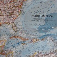 Mapas contemporáneos: MAPA DESPLEGABLE LE RE ISTA TVE NACIONAL GEOGRAPHIC ABRIL 1964 NORTH AMERICA. Lote 151722885