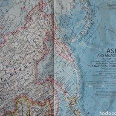 Mapas contemporáneos: ASIA AND ADJACENT ÁREAS 1959. Lote 151768038