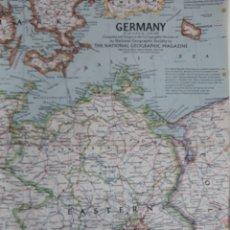 Mapas contemporáneos: GERMANY 1959 MAPA DE LA NATIONAL GEOGRAPHIC 1959. Lote 151768648