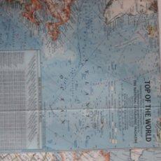 Mapas contemporáneos: TOP OF THE WORLD 1965. Lote 151772924