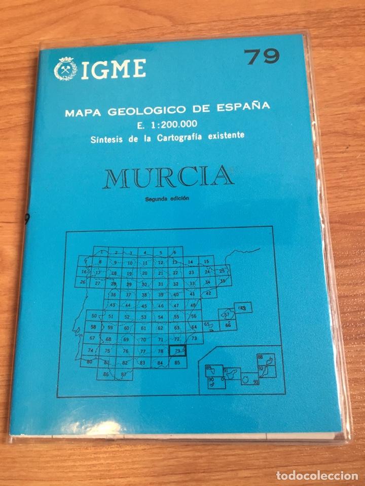 IGME MAPA GEOLÓGICO DE ESPAÑA E. 1:200000 MURCIA 79 (Coleccionismo - Mapas - Mapas actuales (desde siglo XIX))