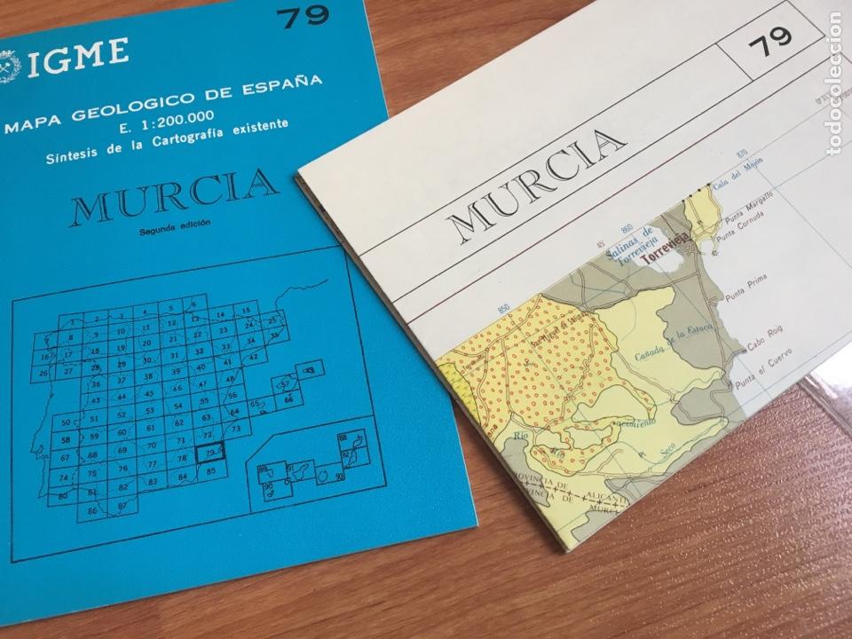 Mapas contemporáneos: IGME Mapa geológico de España E. 1:200000 Murcia 79 - Foto 4 - 151831814