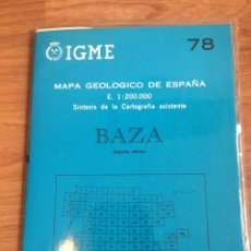 Mapas contemporáneos: IGME MAPA GEOLÓGICO DE ESPAÑA E. 1:200000 BAZA 78. Lote 151833440