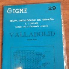 Mapas contemporáneos: IGME MAPA GEOLÓGICO DE ESPAÑA E. 1:200000 VALLADOLID 29. Lote 151836045