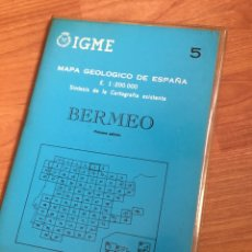 Mapas contemporáneos: IGME MAPA GEOLÓGICO DE ESPAÑA E. 1:200000 BERMEJO. N5. Lote 151836364