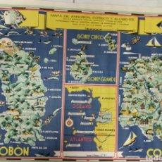 Mapas contemporáneos: ÚNICO EN VENTA MAPA DE ANNOBÓN, CORISCO Y ELOBEYES GUINEA 1944. Lote 151861736