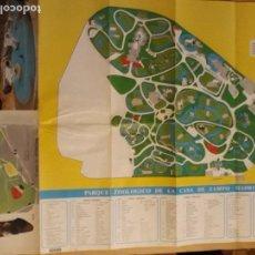 Mapas contemporáneos: 1 PLANO DE** ZOO DE LA CASA DE CAMPO DE MADRID ** . - AÑOS 78/80 . 60 X 45 CMS. .1S OSOS PANDA . Lote 151900926