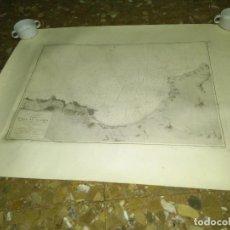 Mapas contemporáneos: MAPA PLANO GRABADO ESTRECHO GIBRALTAR BAHIA TANGER SECCION HIDROGRAFIA MADRID 1912 L. GALVAN GRABÓ. Lote 104646955