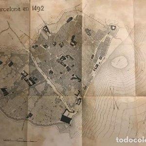 1492 Mapa de Barcelona 46,8x33,8 cm