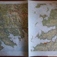 Mapas contemporáneos: MAPA GEOGRÁFICO GALICIA PONTEVEDRA RIAS BAJAS. Lote 152629077