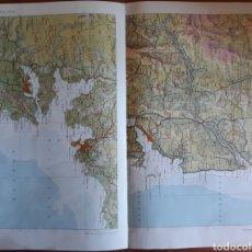Mapas contemporáneos: MAPA GEOGRÁFICO GALICIA LUGO RIAS ALTAS. Lote 152629508