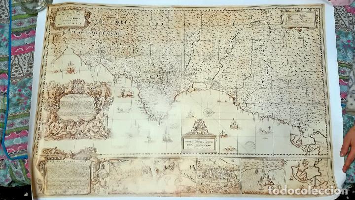 MAPA LITOGRAFIA EL REYNO DE VALENCIA DIVIDIDO EN SVS DOS GOBIERNOS 1693-FRANCISCO ANTONIO CASSAUS (Coleccionismo - Mapas - Mapas actuales (desde siglo XIX))