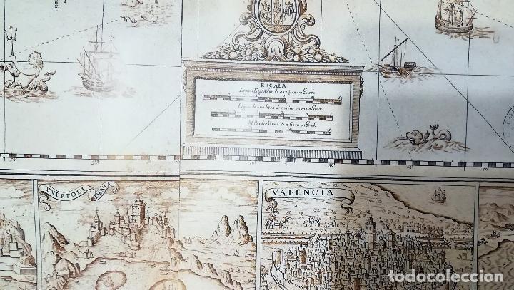 Mapas contemporáneos: Mapa litografia El Reyno de Valencia dividido en svs dos gobiernos 1693-Francisco Antonio Cassaus - Foto 3 - 152833718