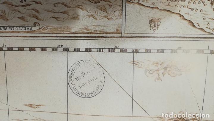 Mapas contemporáneos: Mapa litografia El Reyno de Valencia dividido en svs dos gobiernos 1693-Francisco Antonio Cassaus - Foto 4 - 152833718