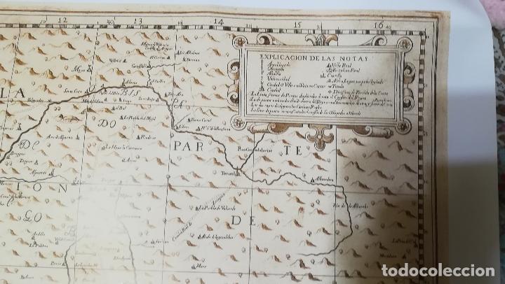 Mapas contemporáneos: Mapa litografia El Reyno de Valencia dividido en svs dos gobiernos 1693-Francisco Antonio Cassaus - Foto 5 - 152833718