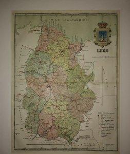 Lugo, mapa antiguo de la provincia