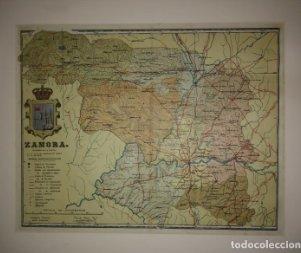 Zamora, mapa antiguo de la provincia