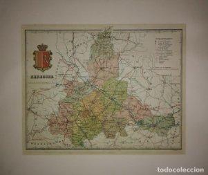 Zaragoza, mapa antiguo de la provincia