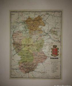 Burgos, mapa antiguo de la provincia