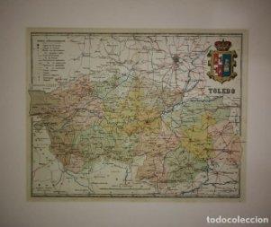 Toledo, mapa antiguo de la provincia